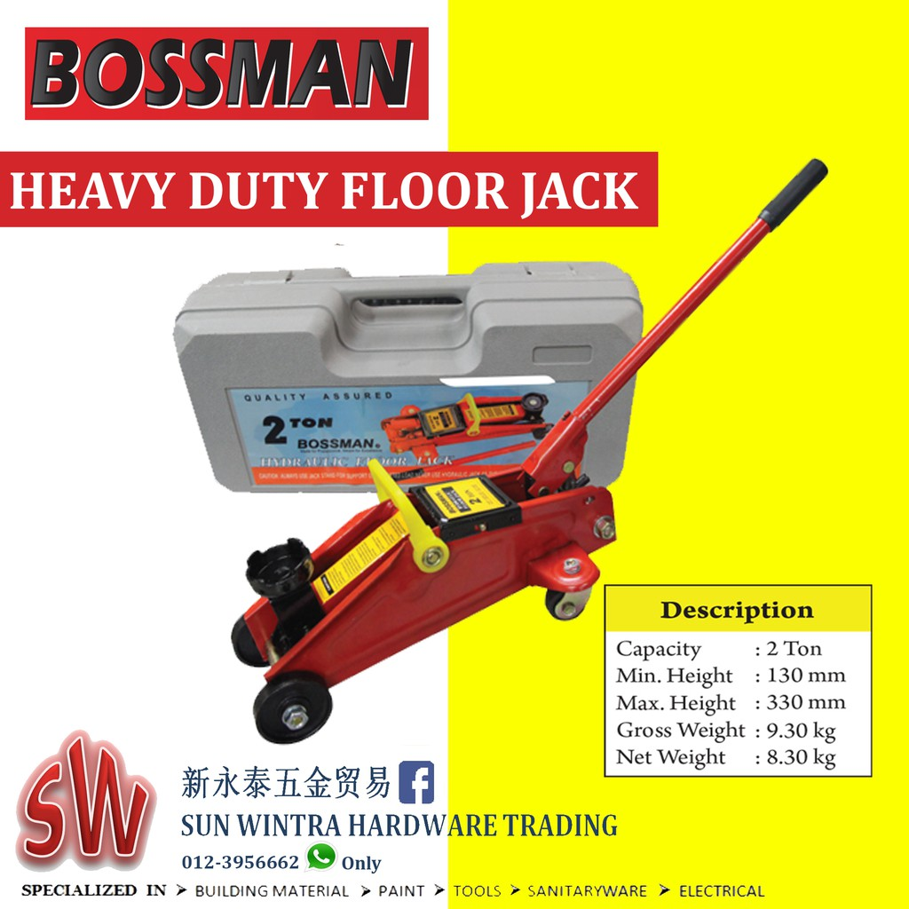 BOSSMAN 2TON HEAVY DUTY FLOOR JACK