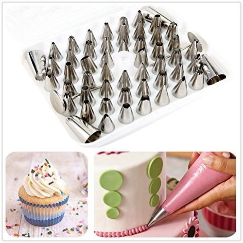👍M\'SIA AYU] 55PCS/SET ALATAN HIASAN KEK ICING / 55 PCS Piping Nozzles cake decoration stainless steel