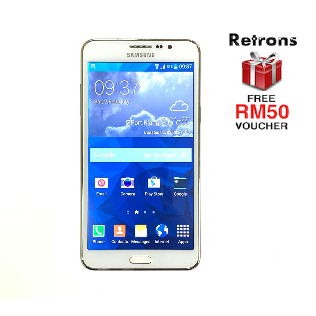🇲🇾 Ori Samsung Mega 2 G750 Dual Sim 4G LTE [8GB+1.5GB RAM] 1 Month Warranty FREE iRing Phone Holder + Voucher
