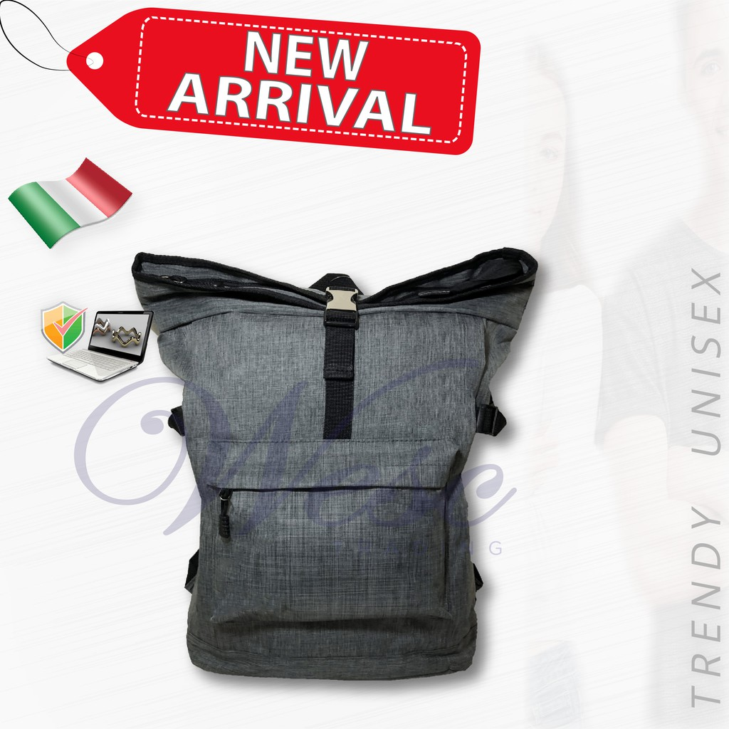 Italian Fashion Designer Laptop & Travel Backpack (Grey)