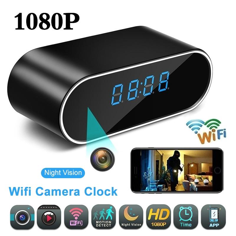 WIFI Camera Full HD 1080P SpyCam Alarm Clock Night Vision P2P DVR Motion