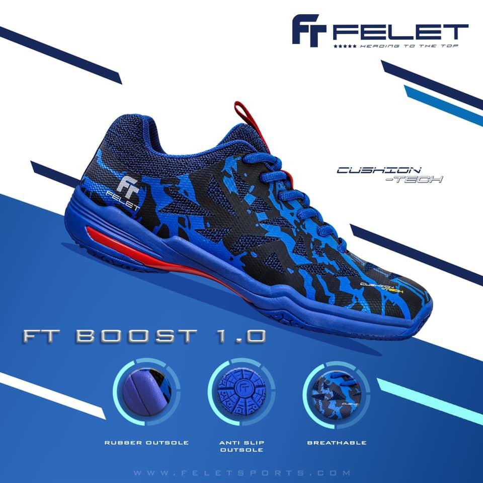 Felet Badminton Indoor Shoe FT BOOST 1.0 BLUE
