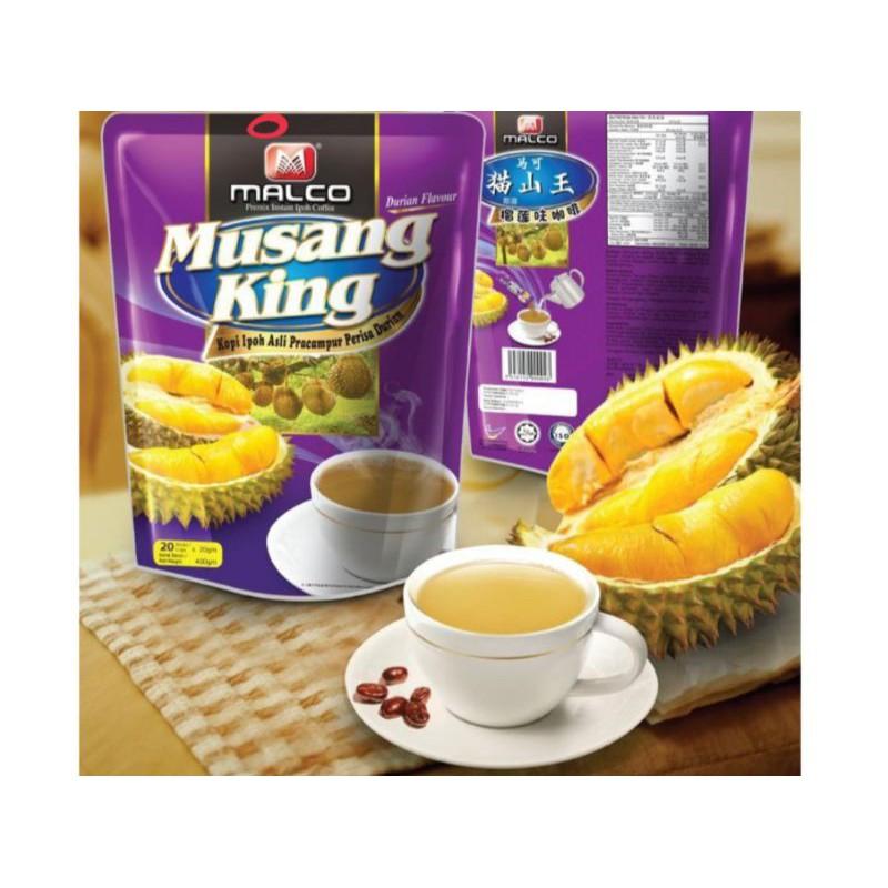 MALCO - MUSANG KING DURUAN PREMIUM COFFEE INSTANT MIX (20G x 20) - HALAL