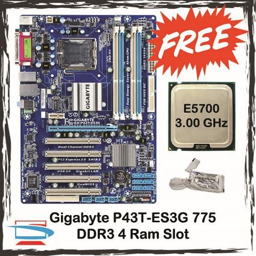 Gigabyte P43 Socket 775 Ddr3 4 Ram Slot Motherboard P43t S3l P43t Es3g P43t Ud3l P45t Ud3lr Free Cpu Shopee Malaysia