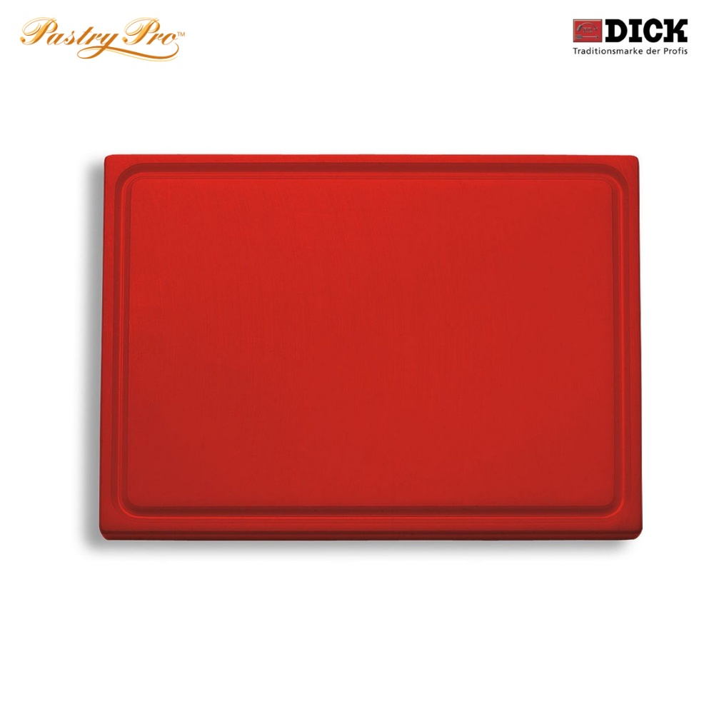 F.DICK, Cutting Board - with juice groove, HACCP Colour Coded, Red