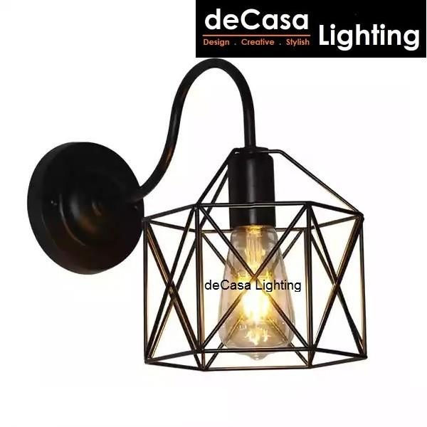 Modern Black Retro Wall Light Decasa Industrial Designer Decorative Wall Light Lampu Dinding (MJ09-BK-WALL)