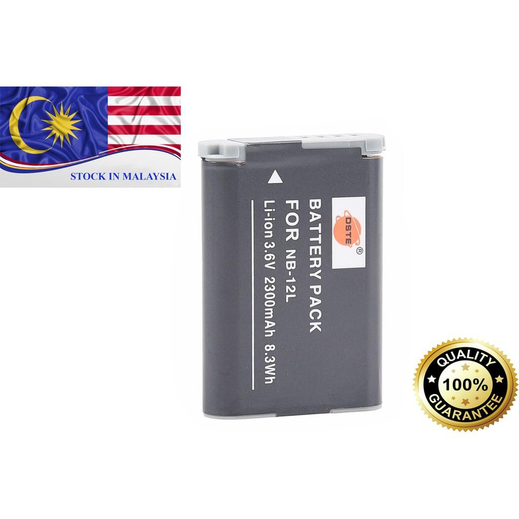 DSTE NB-12L NB12L Battery for Canon G1X MARK II N100 MINI G1X2 (Ready Stock In Malaysia)