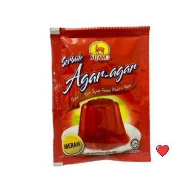 Kijang Serbuk Agar-Agar ~ Red Colour 10g  ( Free Fragile + Bubblewrap Packing )