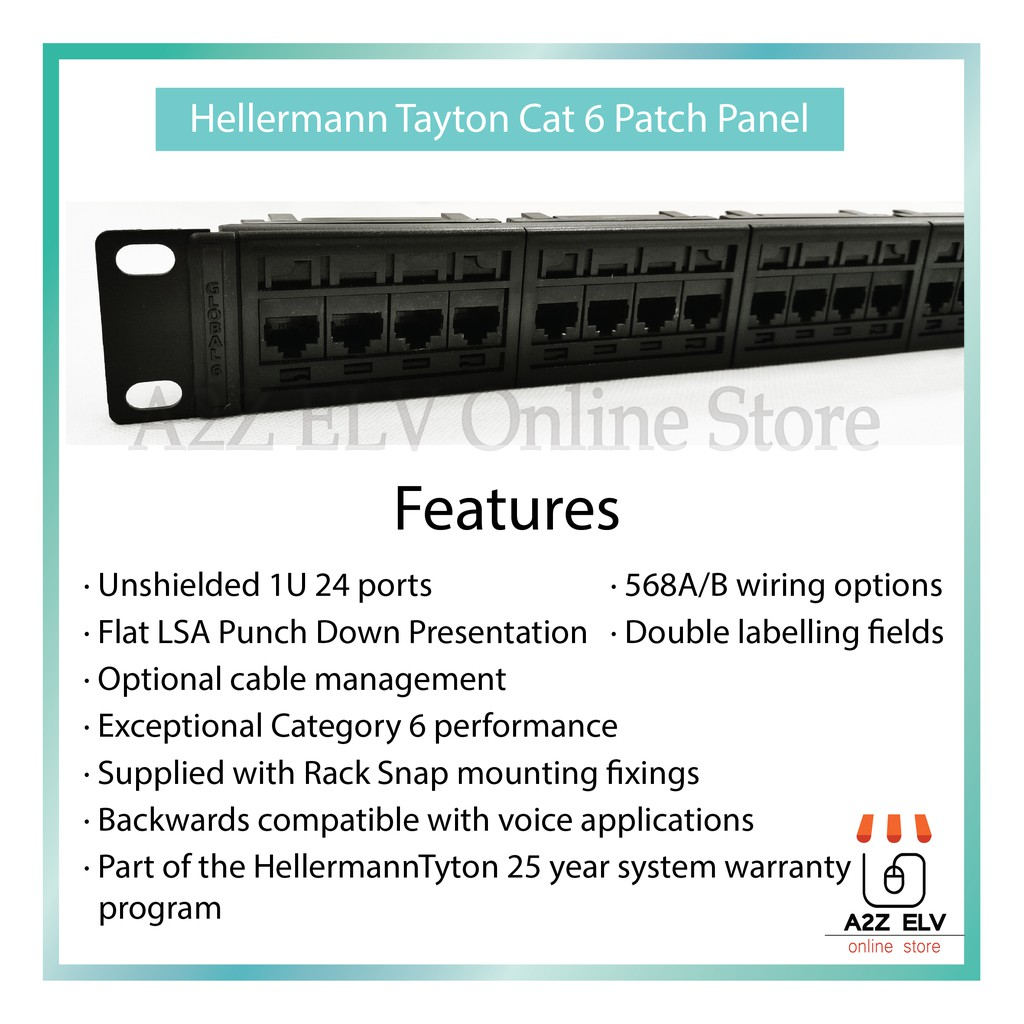 Cat 6 Patch Panel (  Hellermann Tyton )