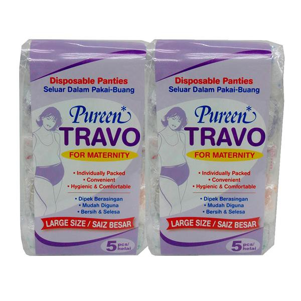 Pureen Travo Disposable Maternity Panties - L (5 Pcs x 2 Set)