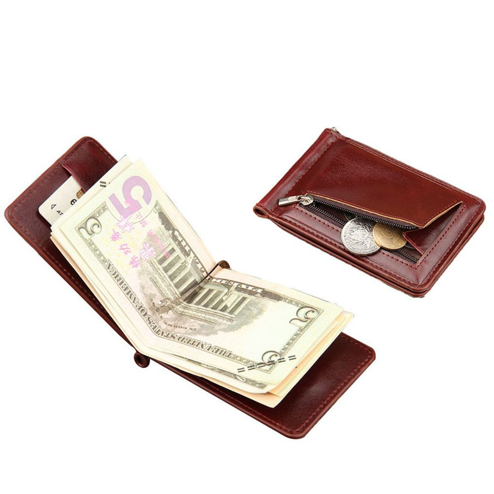 c129813d2a2c ProductImage. ProductImage. Hasp Coin Pocket Men ID Credit Card Holder  Money Clip Leather Wallet Bifold