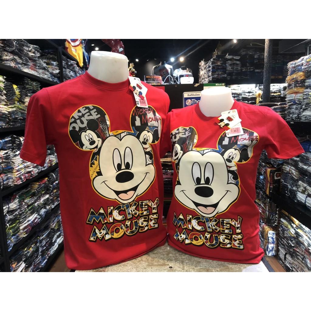เสื้อยืด มิกกี้เม้าส์ MICKEY MOUSE ลิขสิทธิ์แท้ (สีแดง..สวยเ