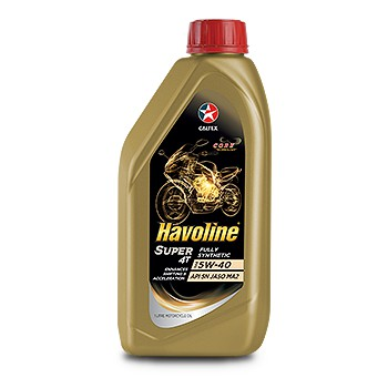 Caltex Havoline Super 4T Fully Synthetic SAE 5W-40 Motorcycle Oil 1 Liter