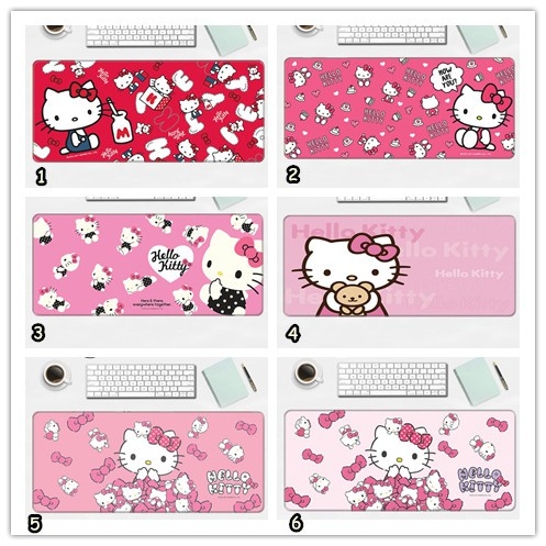 Cute Cartoon Hello Kitty Doraemon Mousepad Large Mouse Pad Multi Functional Desktop Table Keyboard Office Home Desk Pad
