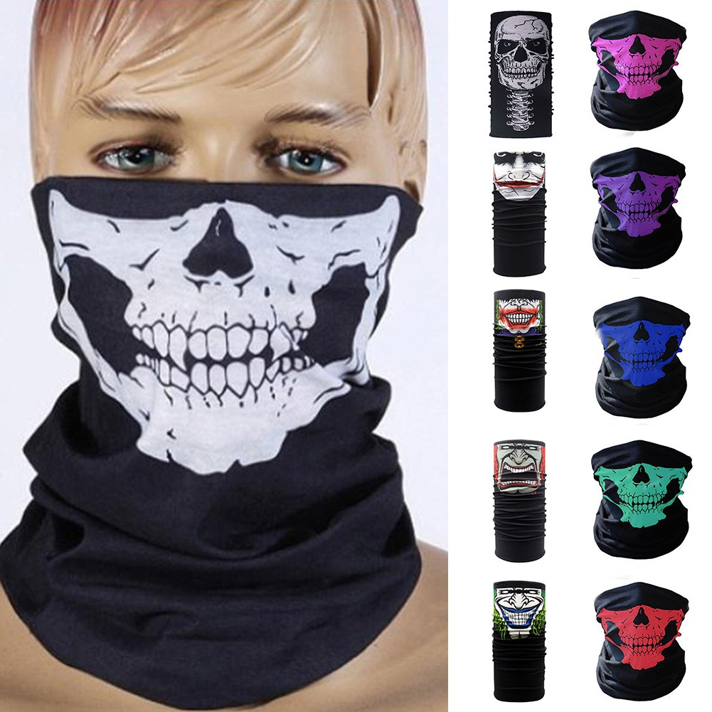 Cycling Motorcycle Neck Tube Ski Scarf Face Mask Balaclava Halloween Party