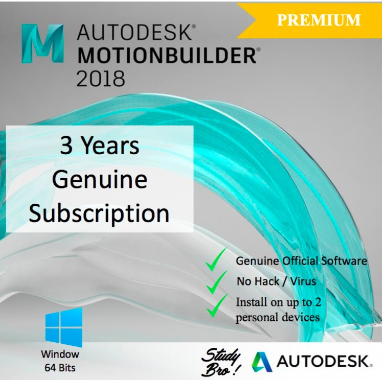 [Genuine] Autodesk MotionBuilder 2018 3 Years License [Windows 64-bit]