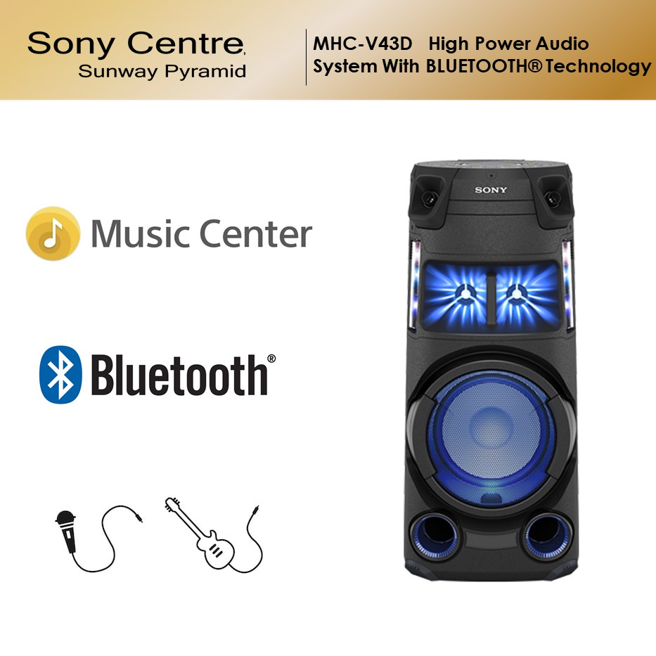 Sony MHC-V43D High Power Audio System with Bluetooth Technology