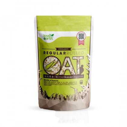 Love Earth Organic Regular Rolled Oat 400g 乐儿有机燕麦(粗) 400公克 (袋装)