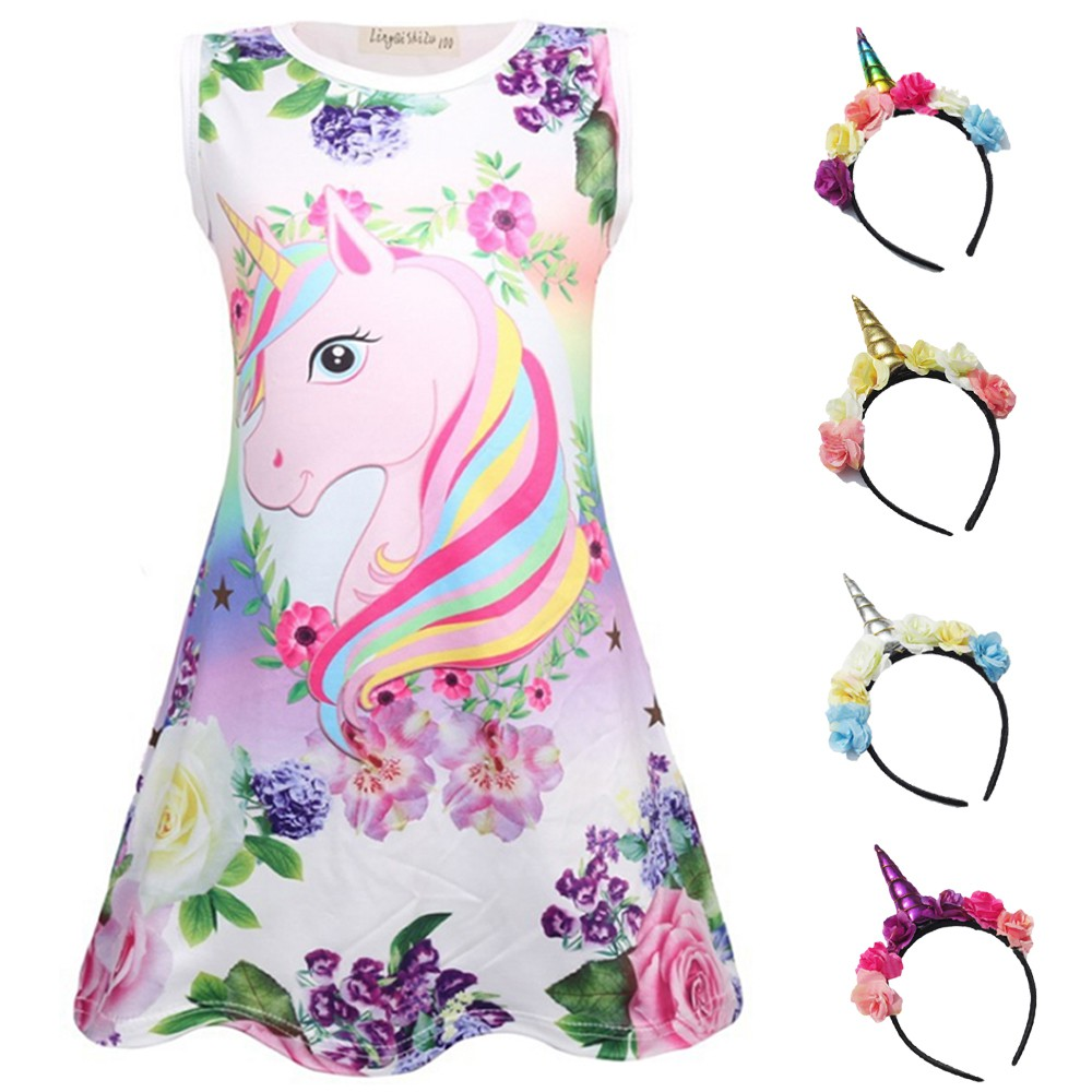 Toddler Kids Baby Girls Skater Swing Long Skirt Maxi Princess Party Dress 1-5T