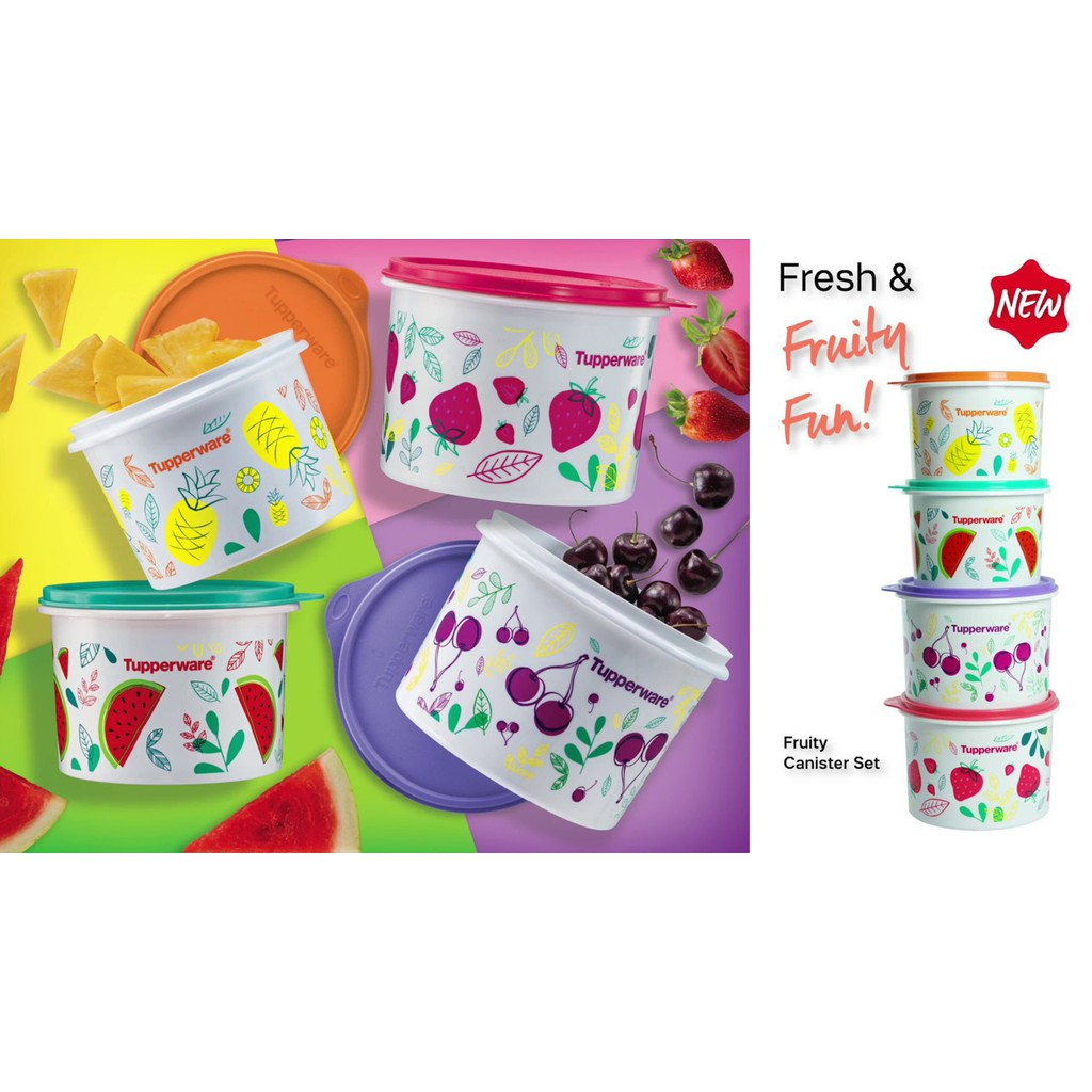 Tupperware FRUITY CANISTER SET