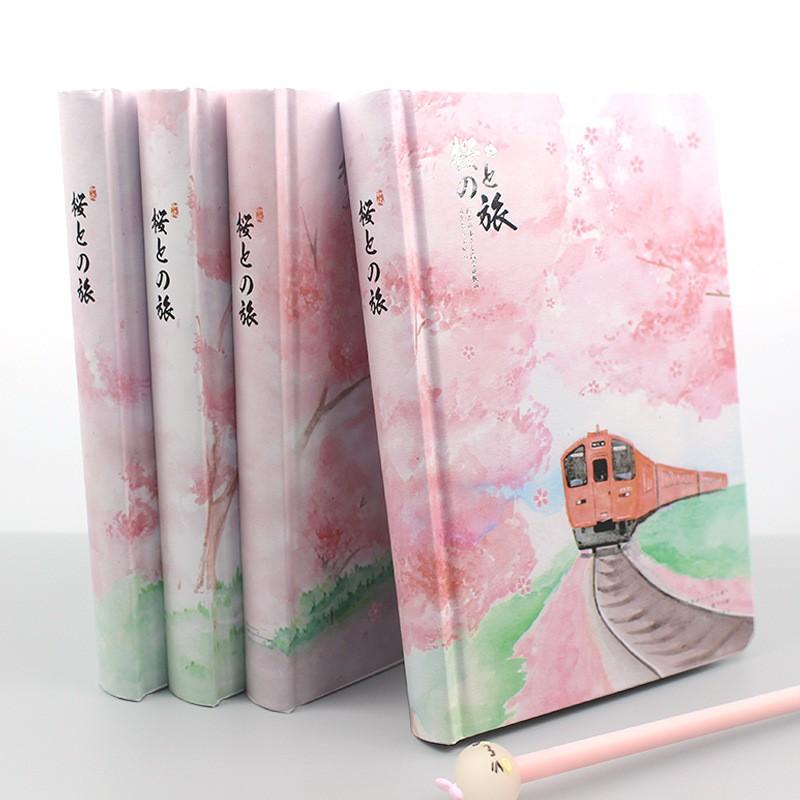 Sakura Girl Notebook Filler Papers Color Planner Inside Page Gift