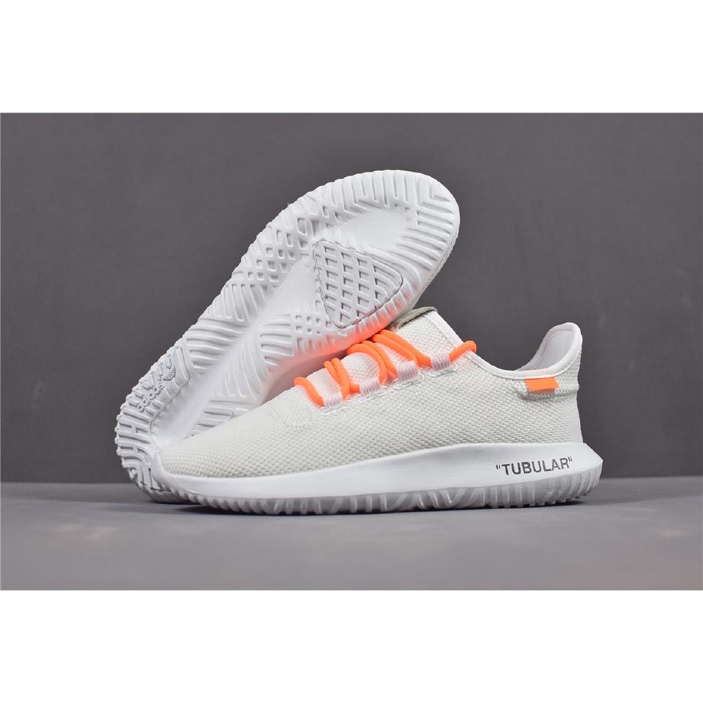 hot sale online d0827 18b94 【Ready Stock】Original feidu Adidas Tubular Shadow Off White/Orange Casual  Shoes