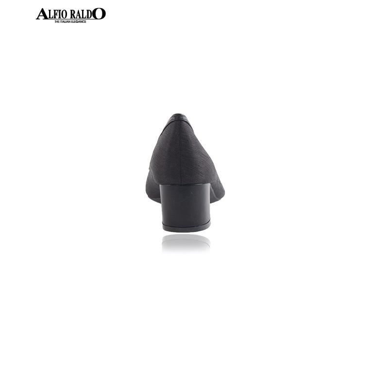 Alfio Raldo Formal Black Pointed Toe Block Pump Heels Court Shoes