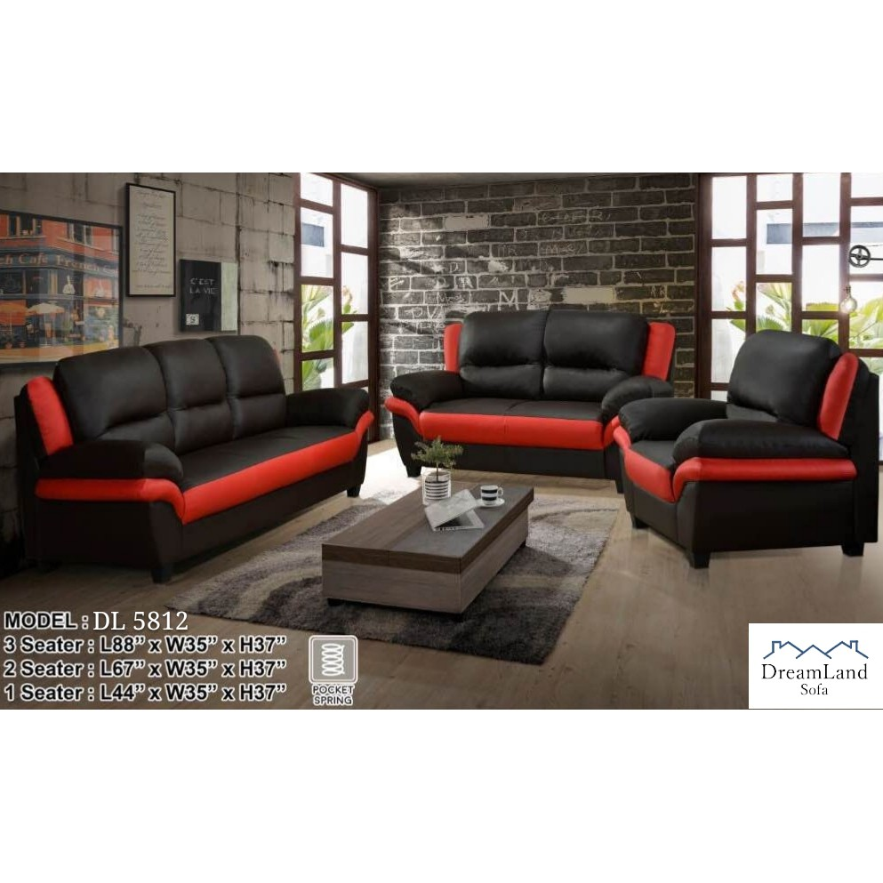 Stupendous Dreamland Sofa Dl 5812 Leather Sofa Set 1 2 3 Seater Pdpeps Interior Chair Design Pdpepsorg