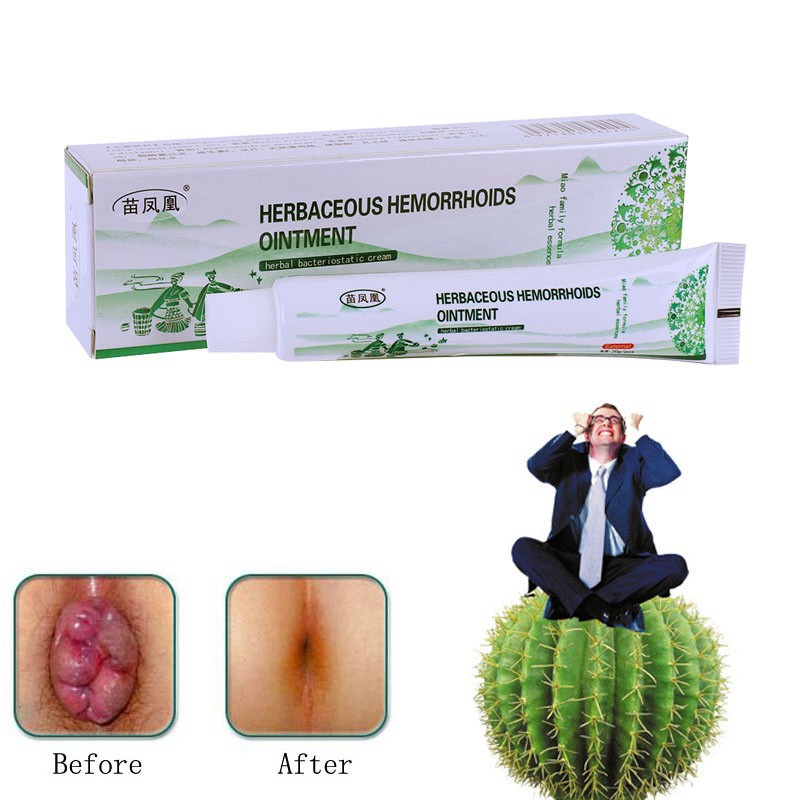 Herbal Hemorrhoids Ointment Anti-Inflammatory Detumescence Cool Piles  Treatment