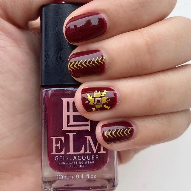 Elm Nail Polish Maroon Shopee Malaysia