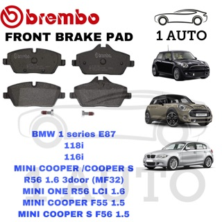 GENUINE BREMBO FRONT BRAKE PAD BMW E87 116i 118i MINI COOPER