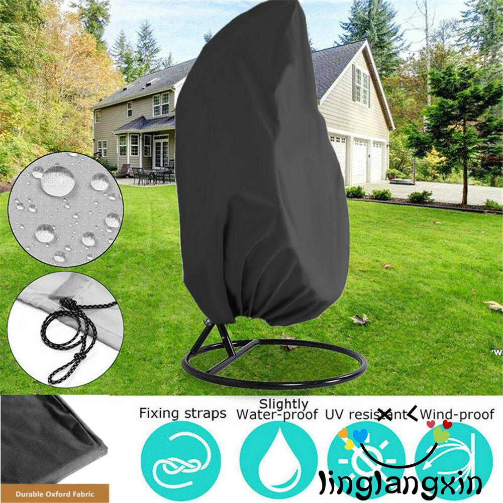 Waterproof Rattan Swing Patio Garden Weave Hanging Egg Chair Seat Anti-UV Cover