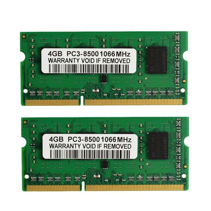 8GB PC3-8500S DDR3-1066MHz 204Pin pc8500 Sodimm Laptop notebook Memory Ram