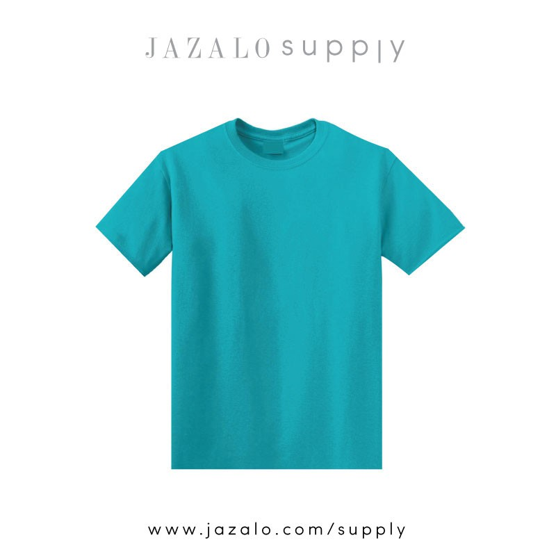 Turquoise Plain Cotton T Shirt