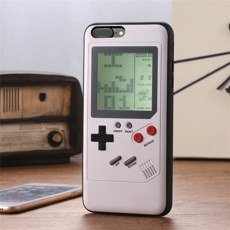 Tetris Electronic Game Phone Case for iPhone 6 7 8 X Play Game Console Cover