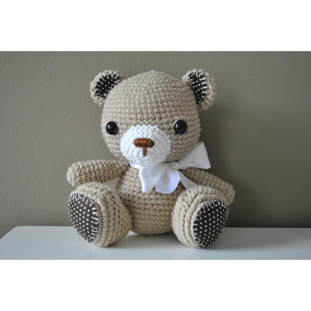 Ravelry: cozyhomelife's Easy-peasy teddy-bear — crocheted in one piece | 1024x1024