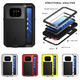 newest collection f7307 cb84c LOVE MEI Metal Waterproof Case Samsung galaxy A8 2018 Shockproof ...