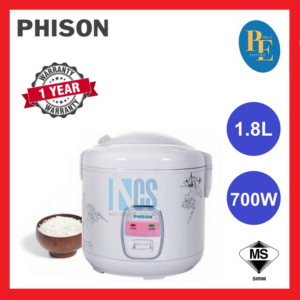 Phison Electric Jar Rice Cooker 1.8L/10Cups - PRC-318