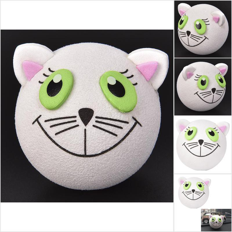 1 Piece Cute Lovely White Cat Antenna Ball Car Aerial Topper Decor Useful