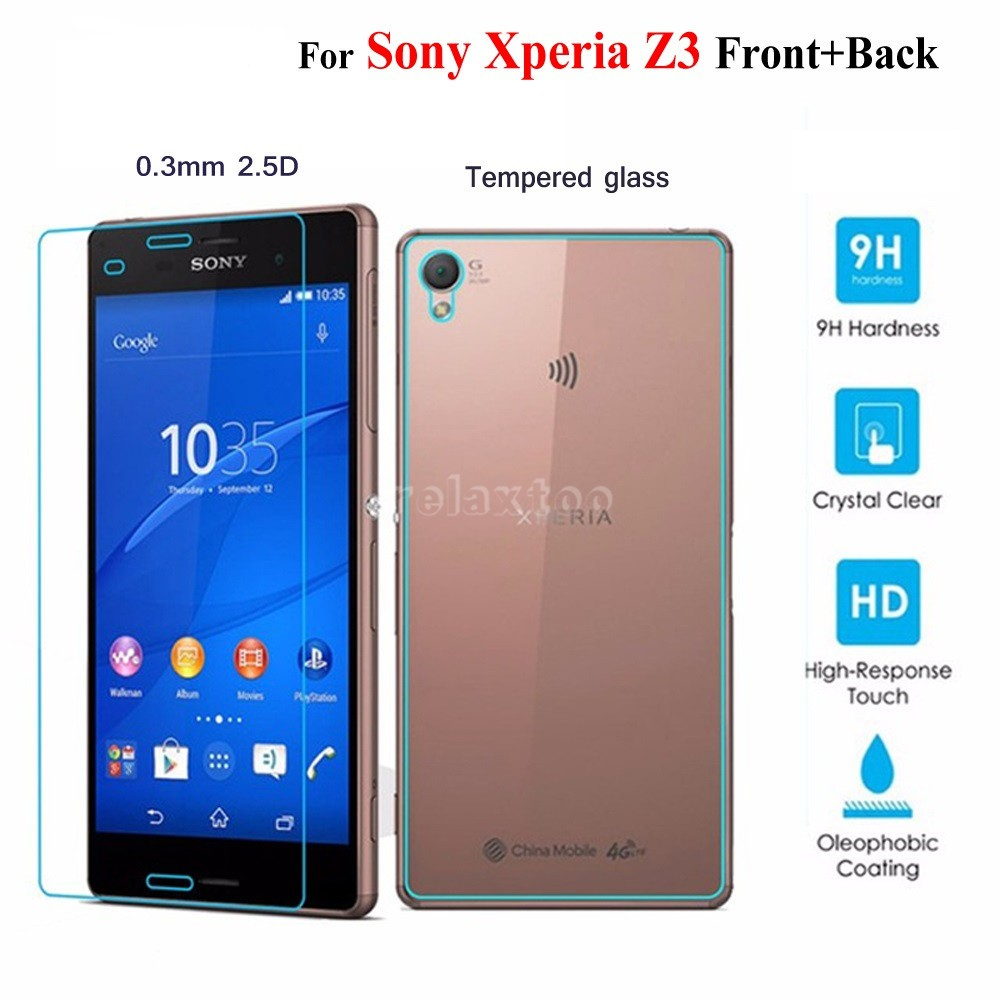 2Pcs Front+Back Tempered Glass For Sony Xperia Z5 Premium Screen Protector Film | Shopee Malaysia