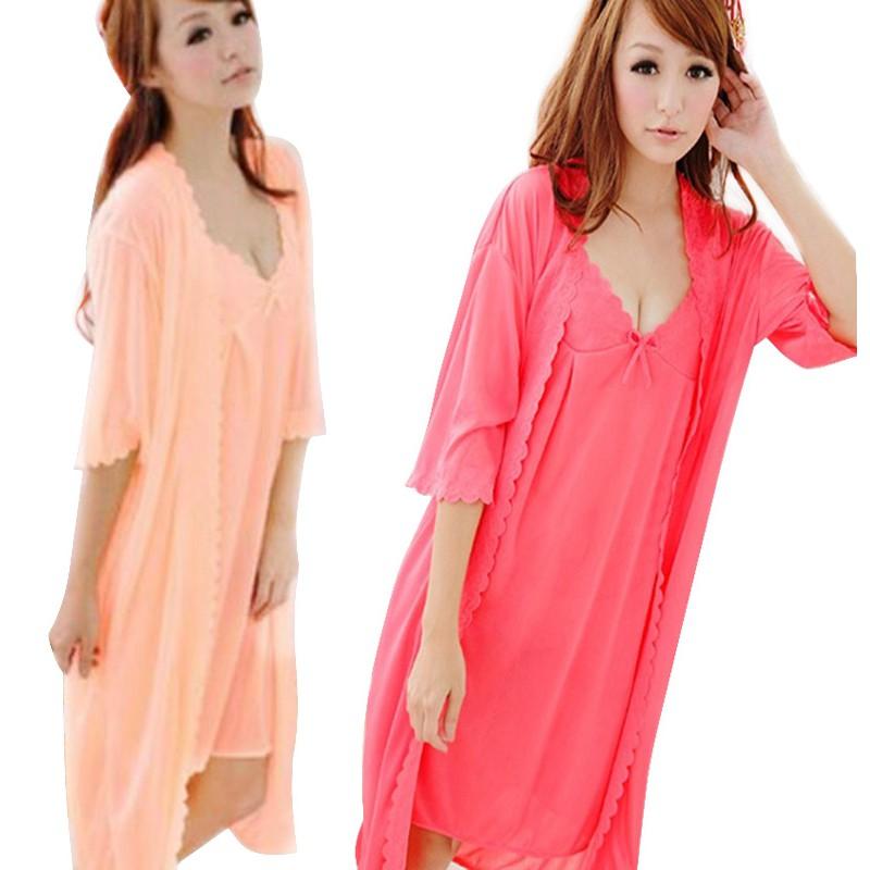 ✨Ready Stock✨Women Pajamas Sleepwear Nightwear Sleep Dress Cartoon Evening  Dress  74c1fd2db