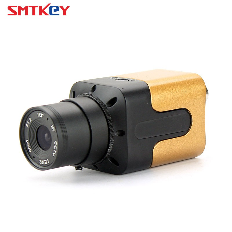 Gold smallest Mini 960H 700TVL SONY CCD Box Camera Color Home Security CCTV  Camera