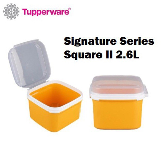 Tupperware Ezy Keeper Square 2.6L (1pc only) Signature Series