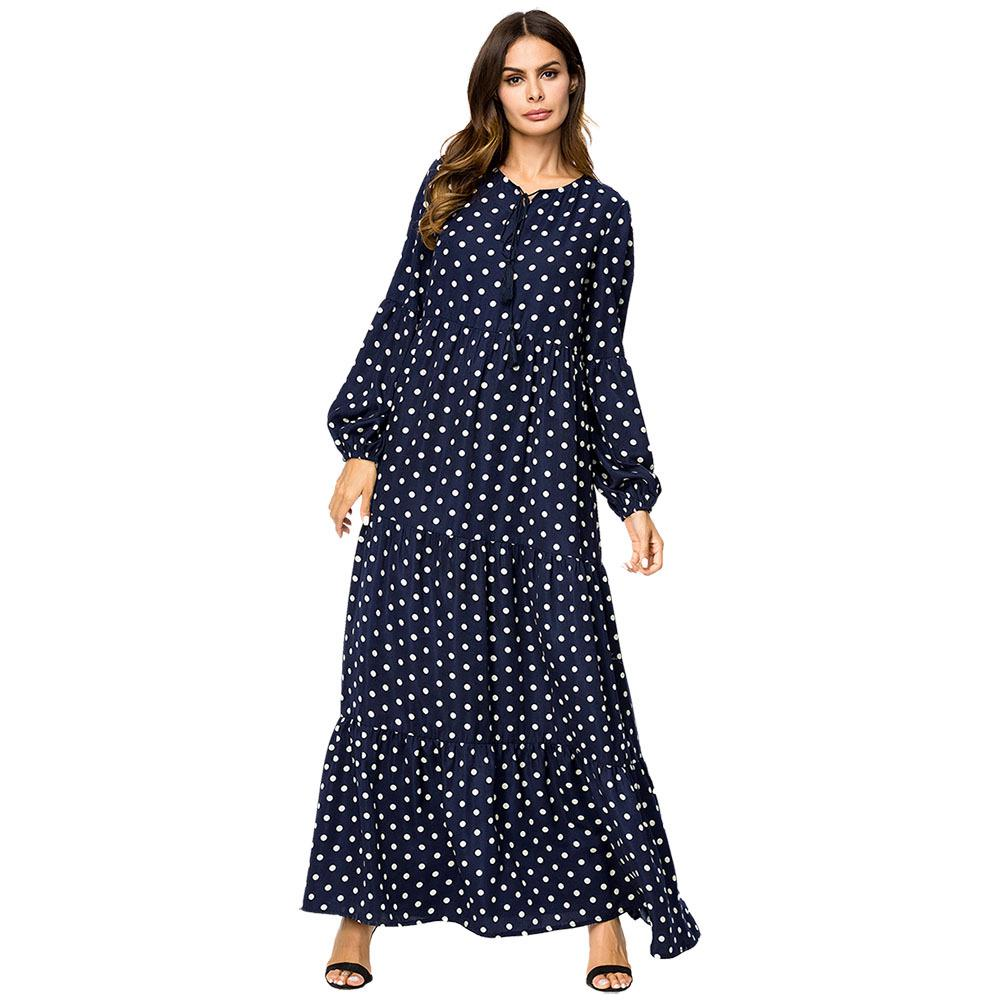 acb9c8b9444 Muslim Denim Dress Abayas For Women Embroidery plus size maternity dresses