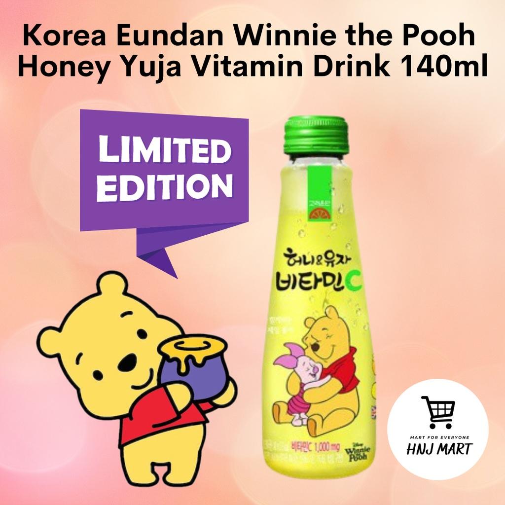 Korea Eundan Winnie the Pooh Honey Yuja Vitamin Drink 140ml 韩国蜂蜜柚子维他命C 饮料