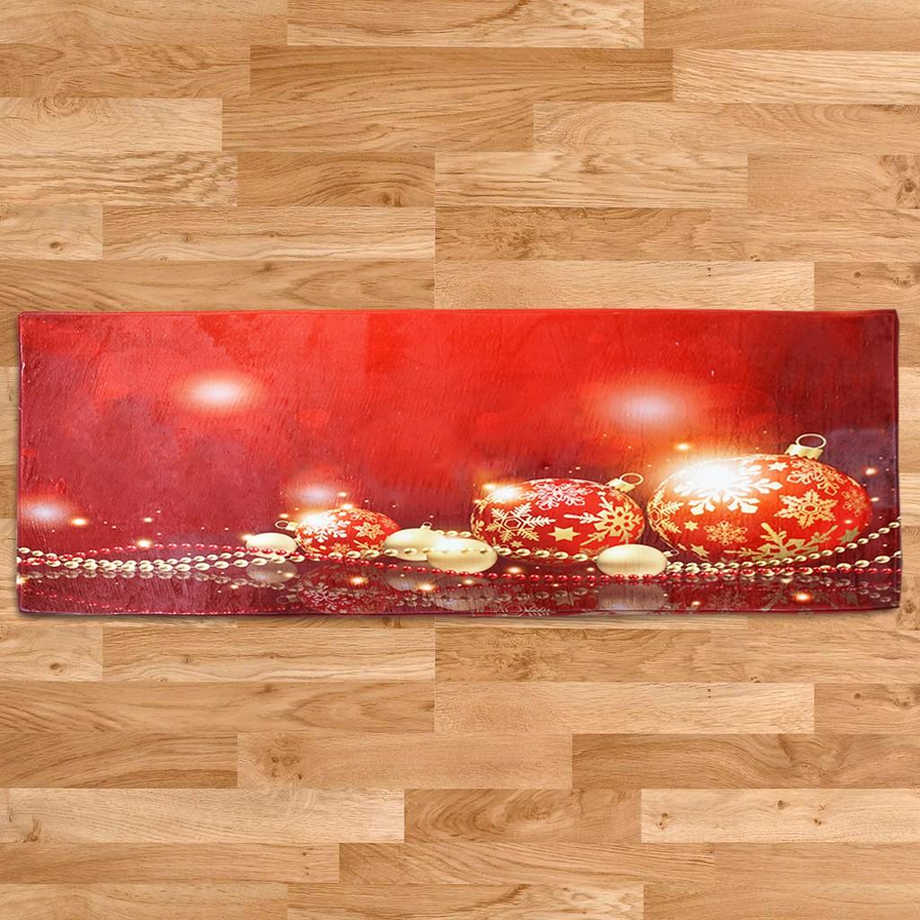 Xmas Print Extra Long Floor Runner Room Area Rug Carpet Doormat 60x180cm Xmas Ball