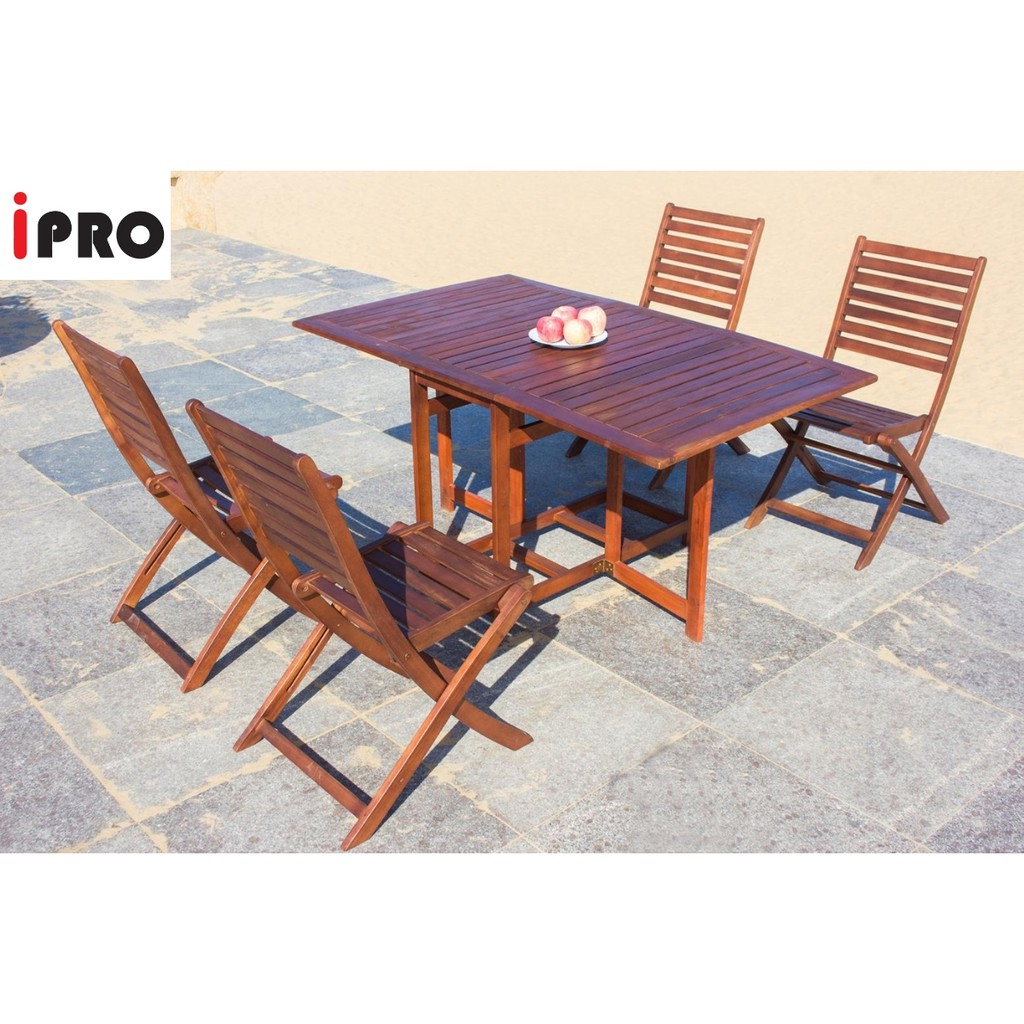 Ipro Solid Wooden Outdoor Table Set