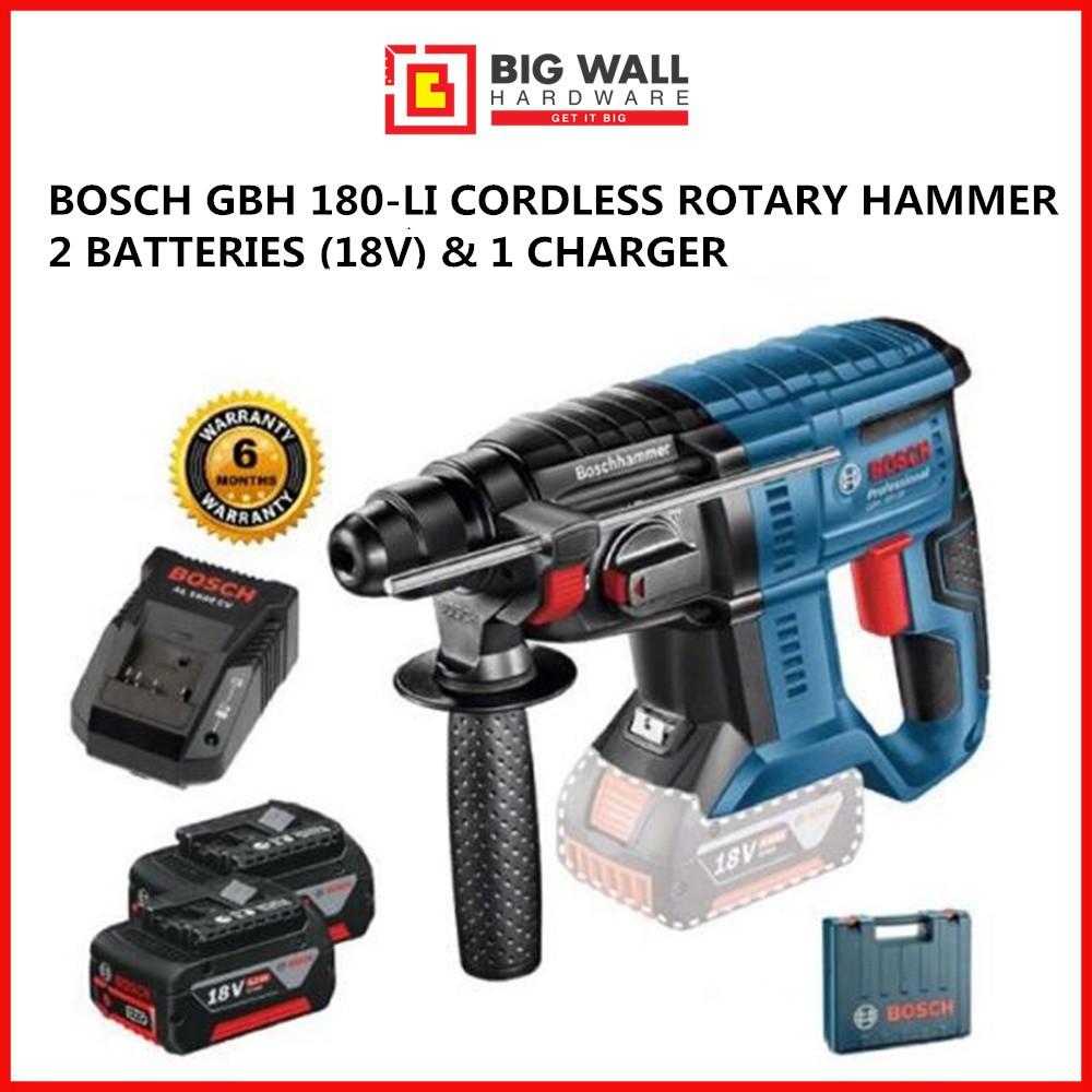 Bosch GBH 180-LI  (4.0Ah) Professional Cordless Rotary Hammer Drill Set (ORIGINAL)