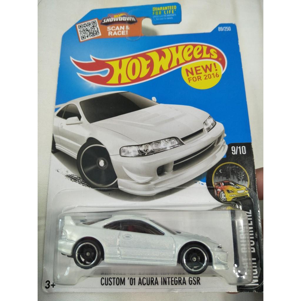 2016 Hot Wheels Custom 01 Acura Integra Gsr White Shopee Malaysia