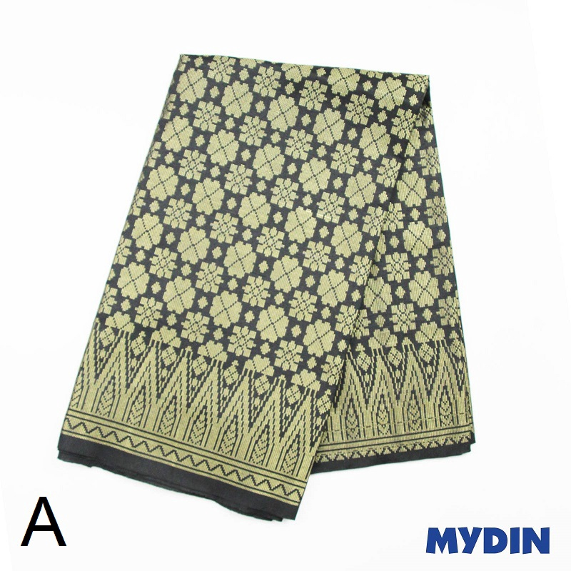 "Men Sampin - Gold on Black with Designs (2m X 32"") 0819SRLXBP01 - A #Raya"